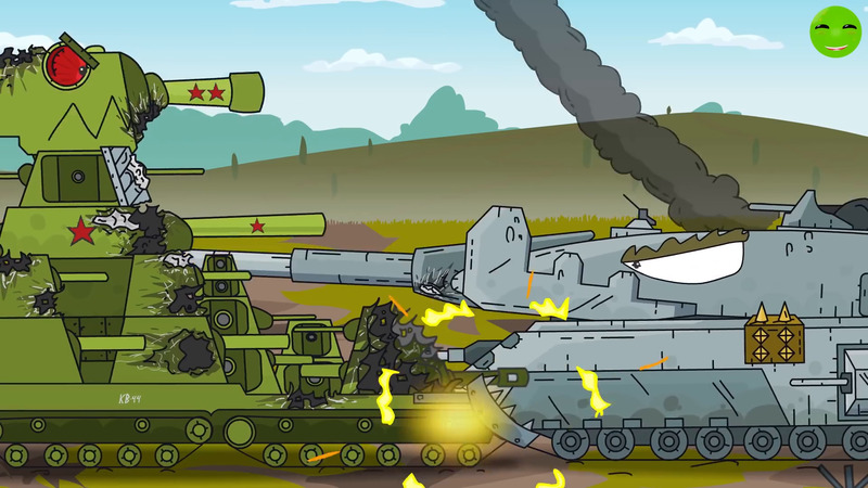 All series KV 44 against the Fortress - Cartoons about tanks